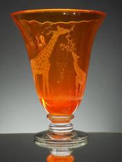 Large Orange Glass Vase
