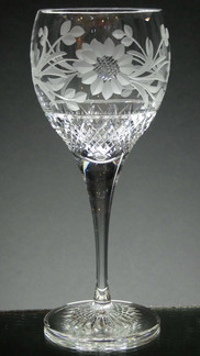 small crystal gin glass