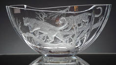 Unique Leopards Engraved Bowl By John Everton