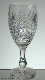 english hand made full lead crystal wine glass hand cut in church window size 7.5 x 3 inches £30.00