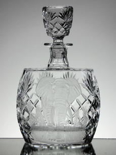 Hand Cut Crystal Decanter Hand Engraved  By John Everton Size 25 x 17 x 9 cm  £150.00 Unique