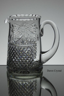 English hand made full lead crystal jug in beaconsfield pattern size 6 x 6.5 inches call for infomation