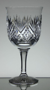 medium gin glass english made full lead crystal hand cut tracy pattern size 7.5 x 3.5 inches £25.00 each