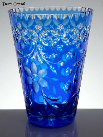 Blue Cesed Vase