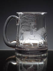 Tankard Engraved With Fox Hunt By John Everton