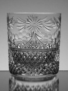 24% Lead Crystal Whisky Glass Hand Cut In Beaconsfield Pattern £30.00 Each Size 9.5 x 8.5 cm ( only 4 leaft )