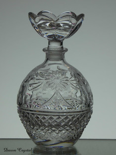 24% lead crystal perfume bottle size 5 x 2.5 inches £40.00 one only