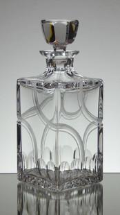 Art Deco style unique engraved whisky decanter by Stewart Davis size 23 x 9 cm £150.00 unique