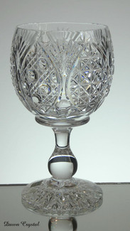 unique set of 6 english hand made full lead crystal large goblet hand cut church window pattern size 6.5 x 3.5 inches £240.00 the set