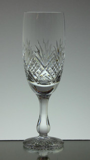 English hand made full lead crystal champagne glass tracy pattern size 7 x 2.5 inches £25.00 each