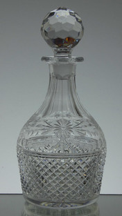 English Hand Made Full Lead Crystal Brandy Decanter Hand Cut In Beaconsfield Pattern £95.00  ( slight second )  Size 26 x 12 cm