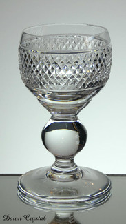 english hand made full lead crystal port glass hand cut in fine diamonds size 5 x 3 inches £21.00 ( 6 only )