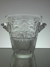 English hand made crystal ice bucket hand cut in beaconsfield pattern size 16.5 x 21 cm £150.00 unique