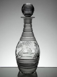 Wine Decanter  Hand Cut & Engraved  By Reg Everton And Stewart Davis  ( Honey Bee's ) Size 31 x 12 cm  £150.00 Unique