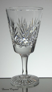 english hand made full lead crystal wine glass hand cut tracy pattern size 7 x 3.5 inches £25.00