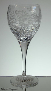 24% lead crystal gin / whisky glass hand cut dawn pattern size 8.5 x 3 inches £25.00