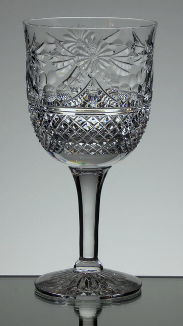 English hand made lead crystal wine - gin glass size 7.5 x 3.5 aprox £35.00 each Limited