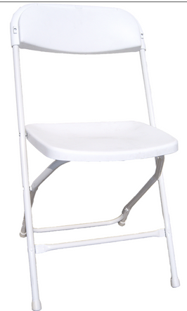 Plastic : Poly Folding Chair - White.png