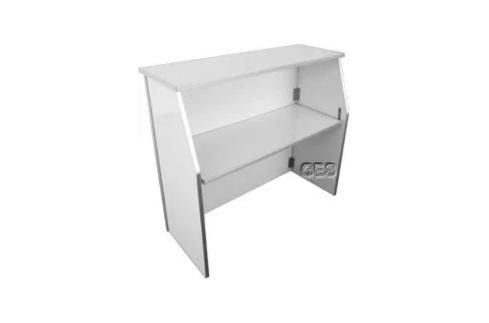 4ft Laminate Foldable Bar Color White.pn