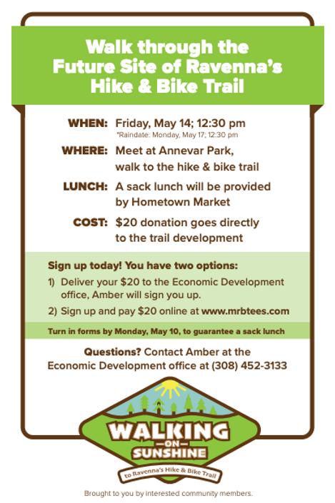 Ravenna Trail Fundraiser Registration