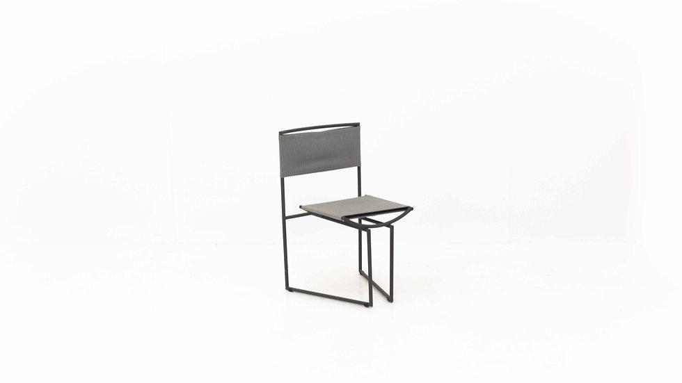 Stuhl Botta 91 von Mario Botta, limitierte Jubiläums-Edition mit Lithografie
