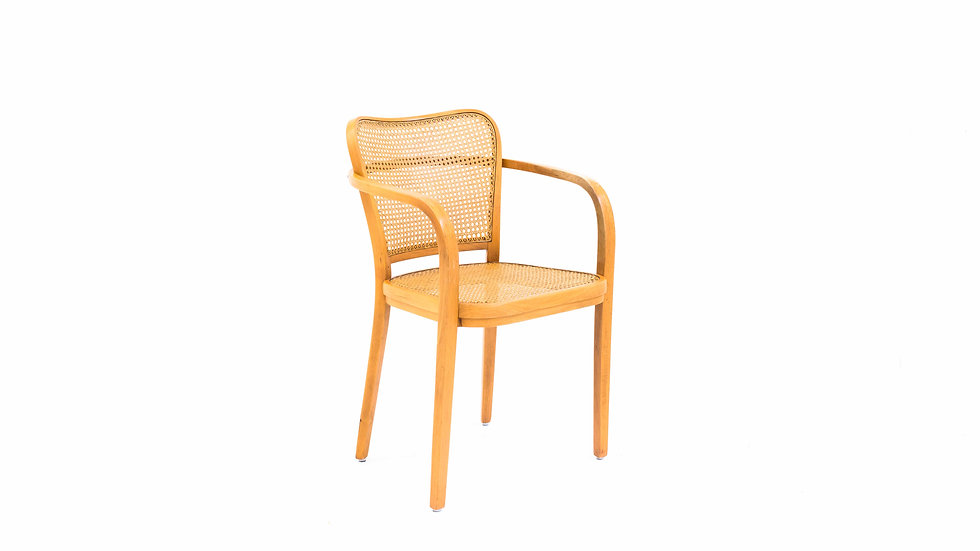 Antike Horgenglarus Holzstühle mit handgeflochtenem Wiener Geflecht, 4er Set