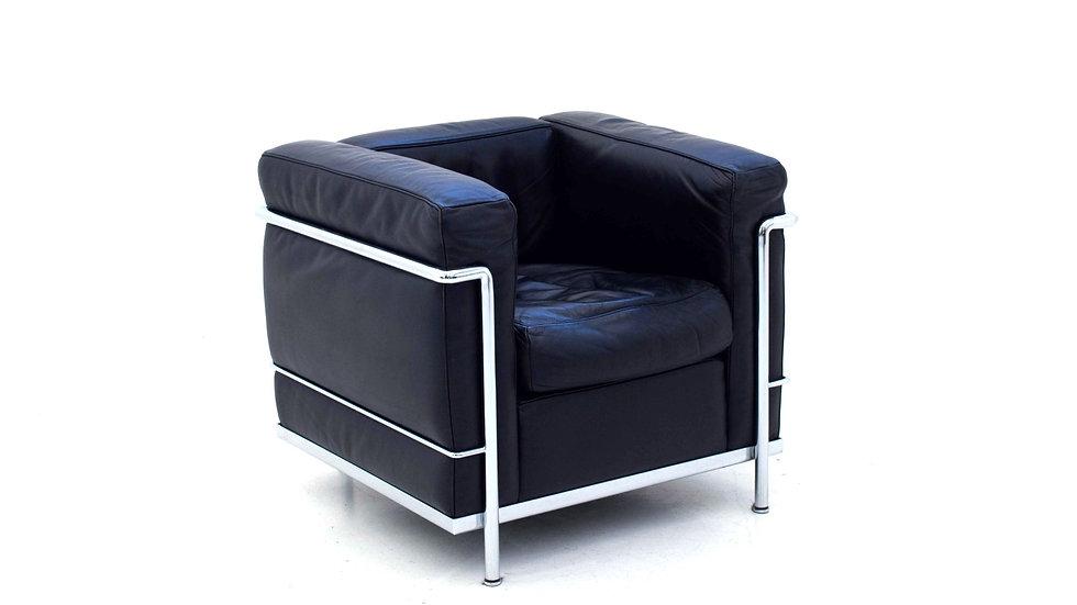 Le Corbusier LC2 Sessel von Cassina in Schwarz
