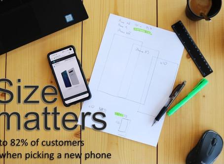 Four creative ways to help consumers understand smartphones size