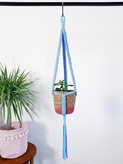 Baby blue Macrame Hanger (textured)