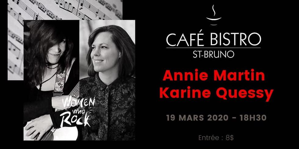 Café Bistro Saint-Bruno présente Karine Quessy et Annie Martin