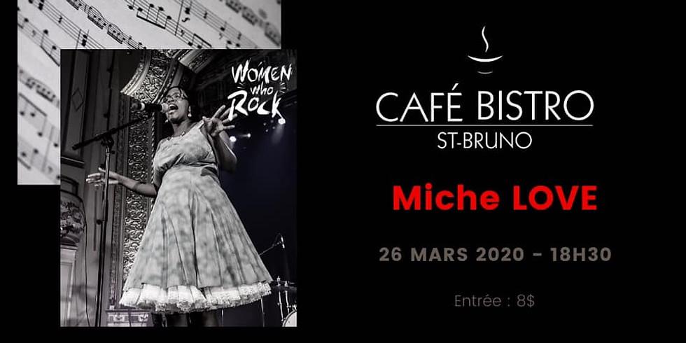 Miche Love session acoustique au Café Bistro St-Bruno