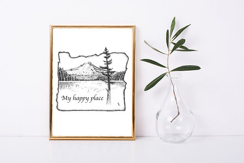 Oregon Trillium Lake Print *CUSTOMIZABLE*