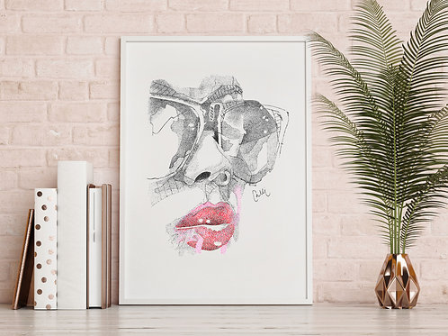 Red Lips Print