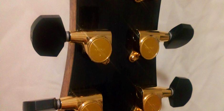Ebony Irish Handmade OM Guitar