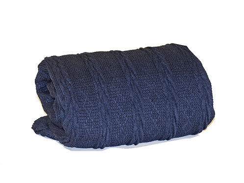 Cozy Vertical Cable Knit Navy
