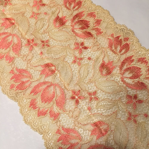 "6.25""/15.8cm Tropical Sorbet Stretch Galloon Lace"