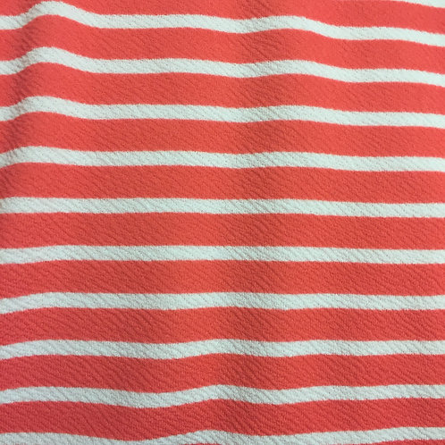 Bright Red Liverpool Horizontal Stripe