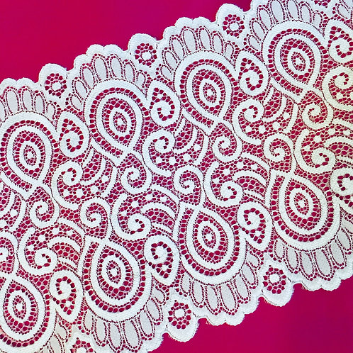"""6.75""""/17.1cm Ouroboros Knot Stretch Galloon Lace"""