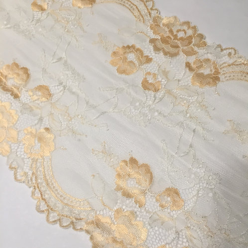 """8""""/20.3cm Golden Pear Stretch Galloon Lace"""
