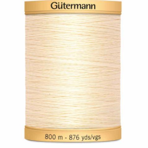 GÜTERMANN Cotton 50wt Thread 800m - Lt. Cream