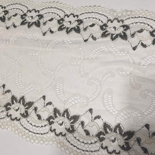 "6""/15.2cm Antique White Stretch Galloon Lace"