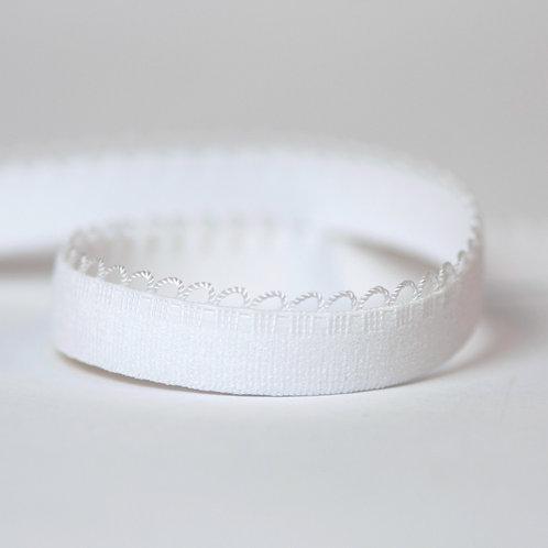 """White (1/2""""/12mm) Picot Bra Elastic"""