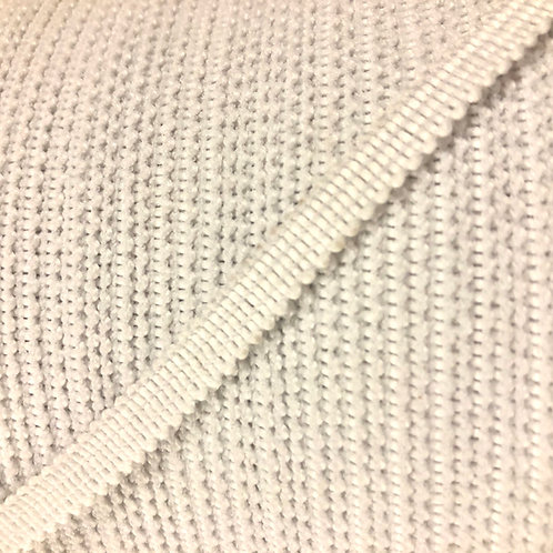 """1/4"""" 6mm Knitted Elastic (White) Canadian Made"""