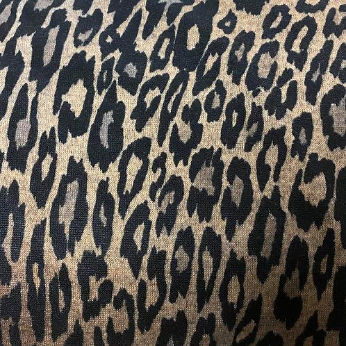 Leopard Melange Sweater Knit - Natural