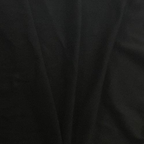 1/2 Metre Black Cotton Lycra French Terry