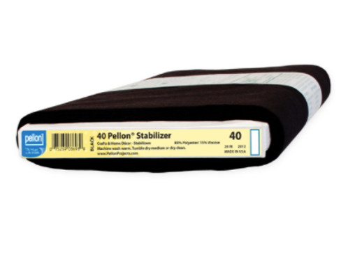 Pellon 40 Midweight Stabilizer (Black)