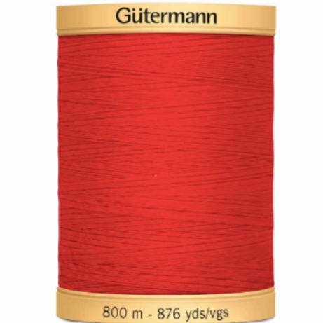 GÜTERMANN Cotton 50wt Thread 800m - Red