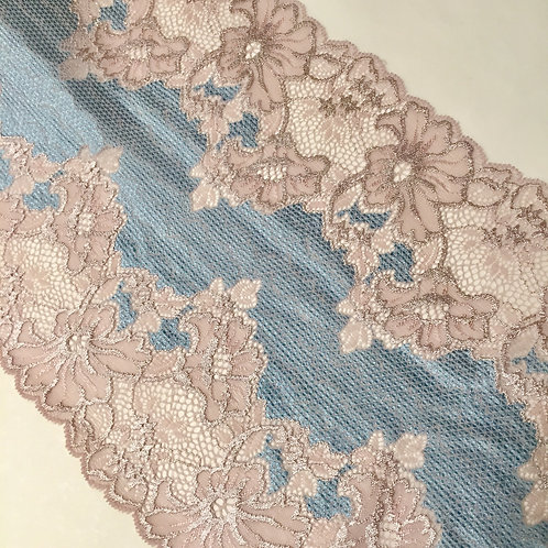 "8.25""/23cm Dead Sea Floral Stretch Galloon Lace"