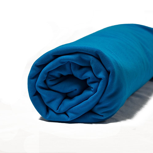 1/2 Metre Blue Cotton Lycra