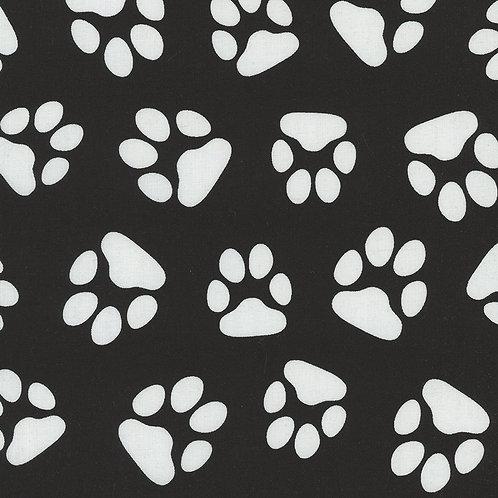 Black and White Paw Prints